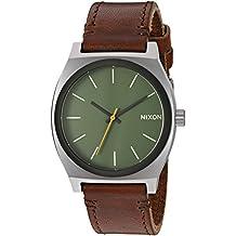 Nixon Men's 'Time Teller' Quartz Leather Watch, Color:Brown (Model: A0452334-00)