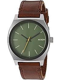Nixon Men's 'Time Teller' Quartz Leather Automatic Watch, Color:Brown (Model: A0452334-00)