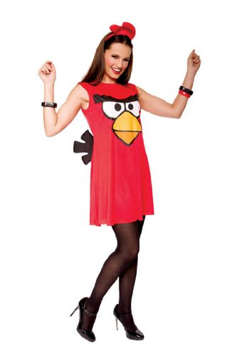Sassy Angry Bird Adult Costume Red - Large