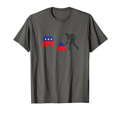 Democrat Republican Elephant Poop Funny Shirt