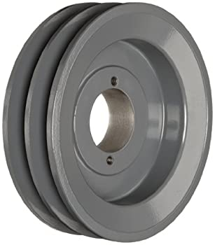 "TB Woods 2BK62 FHP QT Bushed V-Belt Sheave, B Belt Section, 2 Grooves, QT Bushing required, Cast Iron, 5.95"" OD, 4210 max rpm"