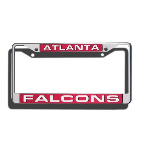 NFL Atlanta Falcons Laser-Cut Chrome Auto License Plate - Outlet Atlanta The