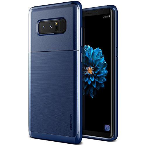 V VRS DESIGN Galaxy Note 8 Case :: VRS x Lumion :: Dual Layer Rugged Hard Drop Protection Slim Thin Fit Full Body Heavy Duty Cover for Samsung Galaxy Note 8 (High Pro Shield – Deep Sea Blue II)