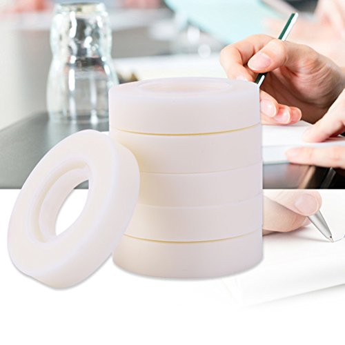 12 Rolls Invisible Tape Set, Vankcp Hand Tearing Magic Invisible Tape and 1 Non-Skid Desktop Tape Dispenser for Home, School, Office by Vankcp (Image #6)