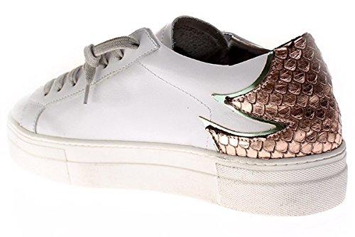 y para Zapatos P448 cordones Pink mujer rosa de White blanco Maui wxq1qYz