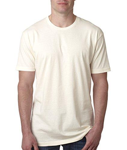 - Next Level Mens Premium Fitted Short-Sleeve Crew T-Shirt - Medium - Natural