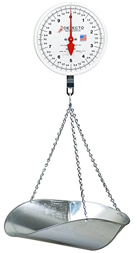 Detecto MCS-20P Hanging Dial Scale, 20 lb. Capacity, (Mechanical Hanging Dial Scale)