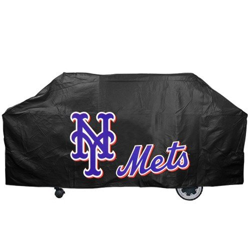 (MLB New York Mets Black Grill Cover)
