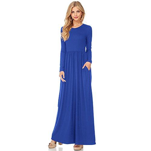 Vestido Visten XINGMU De Cuello Mujeres Vestido Fiesta Blue O Vestido BYwwOq45