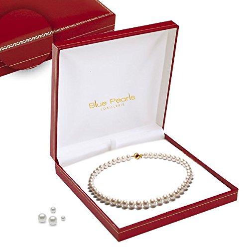 Bracelet Perles de culture Noires AA+ et Fermoir Or jaune massif -Blue Pearls-BPS 1524 O
