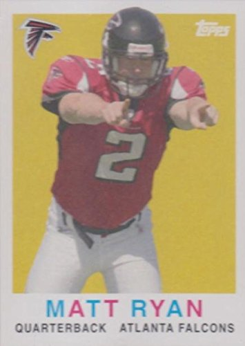 Signed 2008 Topps Card (Matt Ryan football card (Atlanta Falcons) 2008 Topps Turn Back The Clock #10 Rookie)