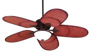 "52"" Casa Vieja Rattan Outdoor Tropical Ceiling Fan"