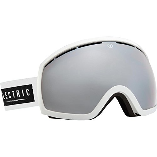 (Electric Visual EG2 Unisex Spherical Goggles, Gloss White/Bronze/Silver Chrome, One Size)