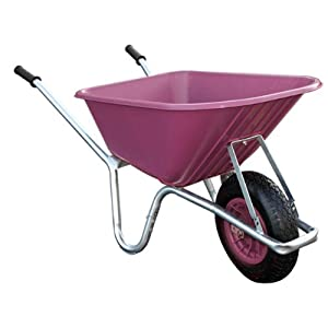 Bristol-Big-Mucker-100-Litre-Pink-Plastic-GardenStable-Wheelbarrow-120-kg
