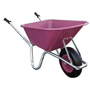Bristol-Big-Mucker-100-Litre-Pink-Plastic-GardenStable-Wheelbarrow-120-kg