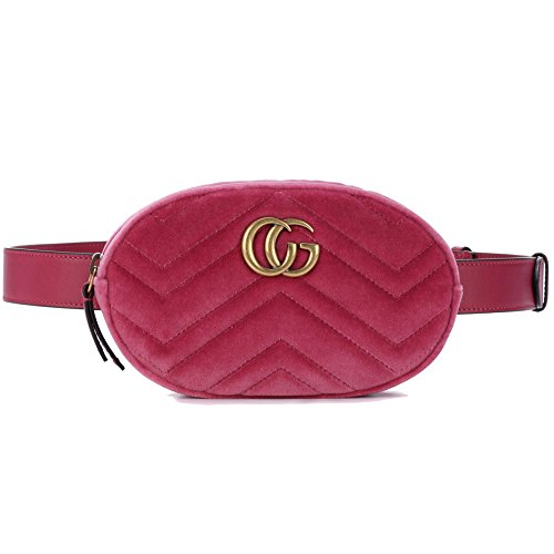 Fashion Female PU Purse Mini Mobile Bag Velvet Chest Bag Oval Pockets Velvetpink