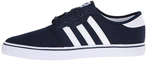 best website f420c a3c60 adidas Men s Seeley Skate Shoe,Collegiate Navy White Black,4 M US