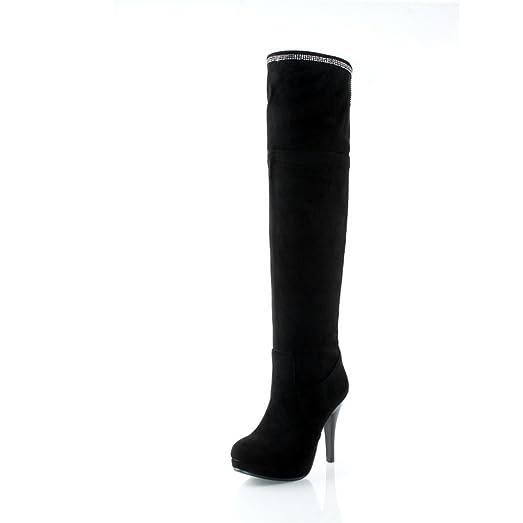 Womens No-Closure Boots Solid Comfort Urethane Boots
