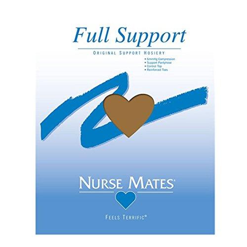 Nurse Mates Women's Full Support Socks,Beige,E