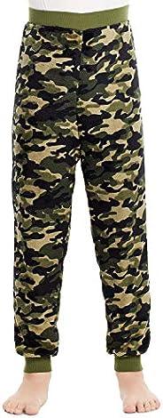 Jellifish Kids Boys Pajama Bottoms - Cozy Flannel Fleece Jogger Style PJ Pants