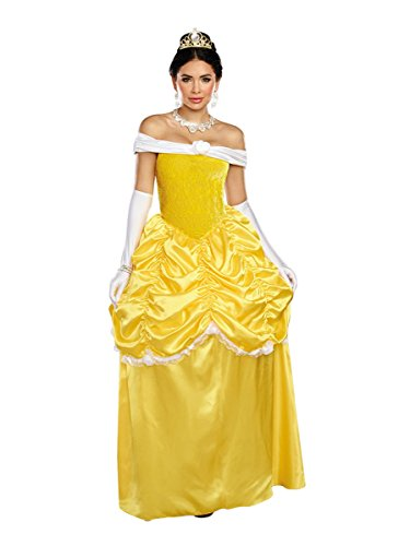 Dreamgirl Women's Fairytale Beauty, Yellow/White, S