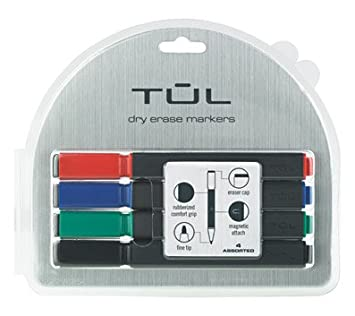 Tul Fine Tip Dry Erase Markers 4 Colored Markers Amazon Co