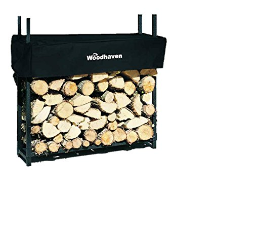 3 Foot Firewood Rack w Standard Cover by Woodhaven
