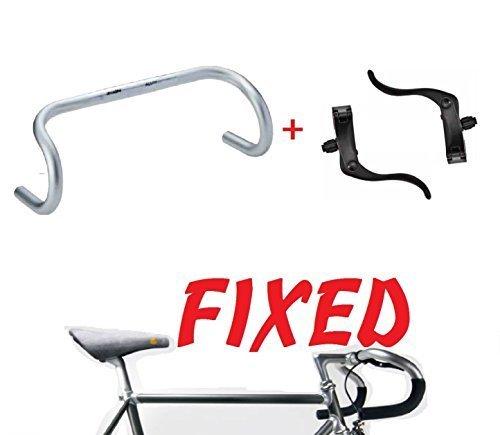 Lenker für Fixed Fixed Typ Corsa – Geweih + Brems Fixed Schwarz aus Aluminium