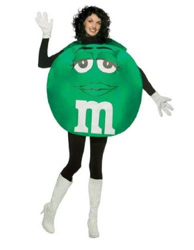 M&Ms Poncho Female Costume (M&m Green Costume)