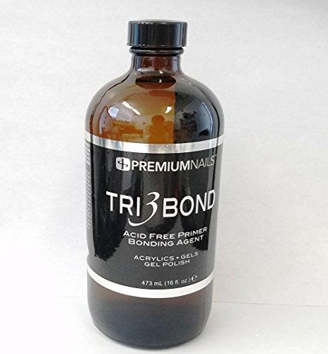 (Premium Nails Tri 3 Bond Acid Free Primer / Bonding Agent (16 oz))