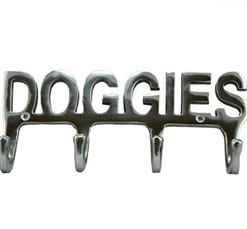 AS4HOME Haken Hakenleiste Wandhaken silberfarben Doggies 4 Haken Garderobenhaken