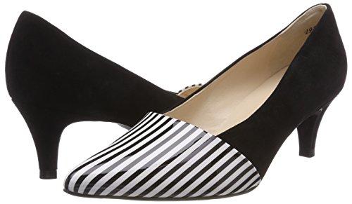 Negro Peter Mujer De Tacón schwarz Con Para Zapatos 722 Suede Punta Cerrada Caren Kaiser Lines vTqwrHv