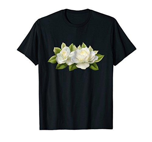White Rose Banner T-shirt tshirt (Love Gardening Banner)