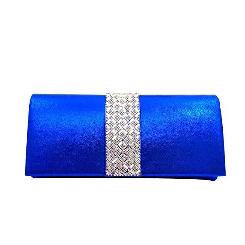 Sac Diamant Soir Diamant Sac à Main De Mariée De Femmes Blue