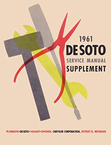 bishko automotive literature 1961 DeSoto Shop Service Repair Manual Book Engine Drivetrain Electrical OEM