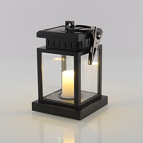 Waterproof Vintage Solar Led Lantern Light with Clamp for Beach Umbrella Hanging Pavilion Garden Yard Lighting by Beisaqi (Image #4)