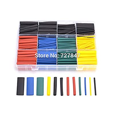Yoton Accessories 530pcs/set Heat Shrink Tubing Insulation Shrinkable Tube Assortment Electronic Polyolefin Ratio 2:1 Wrap Wire Cable for RC FPV: Toys & Games
