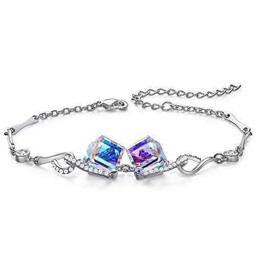 CDE Bracelet for Women, Cube Square Bangle Bracelets