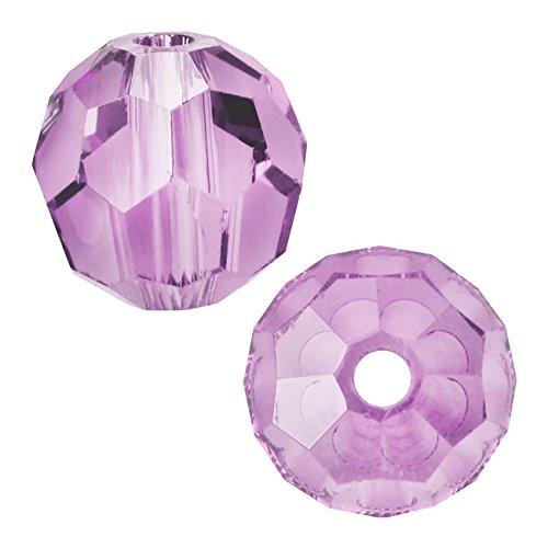 - SWAROVSKI ELEMENTS Crystal #5000 8mm Round Beads Violet (8)
