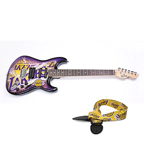 Los Angeles Lakers NBA ''Northender'' Electric Guitar with Strap by Woodrow