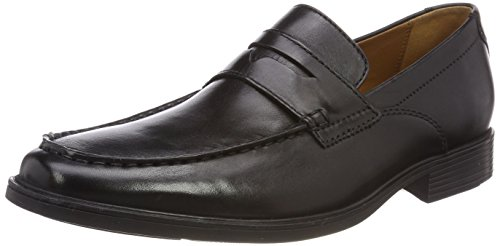 Leather Clarks Tilden Black Negro Mocasines Way Hombre para x06nq0Crw