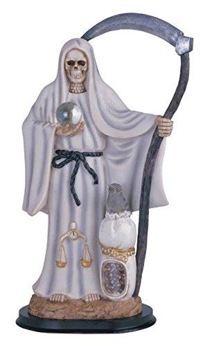 "StealStreet SS-G-316.72W Santa Muerte Saint Death Grim Reaper Statue Figurine, 16"", White"