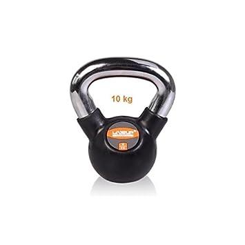 LiveUP Sports - Kettlebell 10kg Hierro Goma Pesos Manija Cromo Fitness Crossfit Training: Amazon.es: Deportes y aire libre
