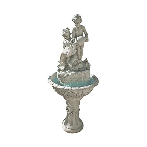 Water Fountain - 5 Foot Tall Portare Acqua Italian-Style Garden Decor Fountain - Outdoor Water Feature by Design Toscano