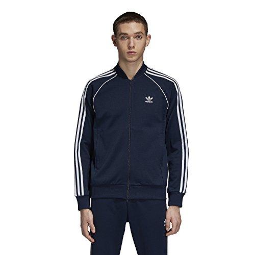 (adidas Originals Men's Superstar Tracktop, Collegiate Navy, M)