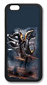 iPhone 6 Case, Soft Flexible TPU Bumper Protective Case Black Skin Scratch-Proof Case for iPhone 6 (4.7 inch) - Reagan Velociraptor Pattern