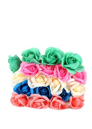 [Essential 12 pcs Mix Color Flower Crown Headband (C- 12 PCS)] (Rosie The Riveter Costume Bandana)