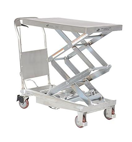 Amazon.com: vestil cart-800-d-pss hidráulico Elevador de ...
