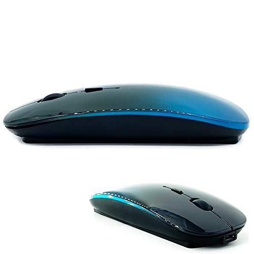 Bluetooth Mouse for MacBook pro/MacBook air/Laptop/iMac/ipad, Wireless Mouse for MacBook pro MacBook Air/iMac/Laptop/Notebook/pc (BT/A Turquoise-Black)