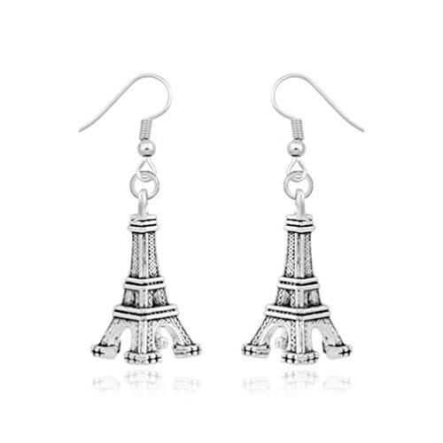 Women's Eiffel Tower Paris France Dangle Earrings Jewelry